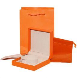 caixas de jóias de embalagem de veludo Desconto Conjunto de caixas de embalagem de jóias de luxo cartões de sacos de papel de alta qualidade H marca pulseira caixas de presente de varejo