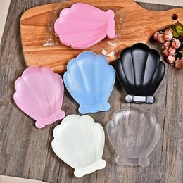 2019 insalata monouso all'ingrosso Piatto a forma di conchiglia di plastica a forma di conchiglia di stoviglie per la vendita all'ingrosso di snack per frutta dessert piatto per torta per la festa