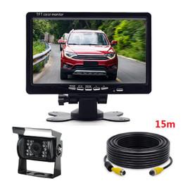 Canada Moniteur de couleur LCD TFT LCD + 15M de câble vidéo + 24V LED caméra de recul cheap tft lcd tv monitor Offre