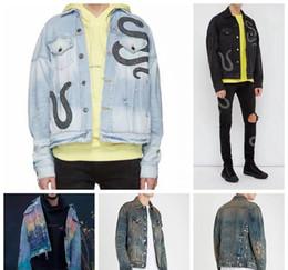 chaquetas de moda hombres ee. Rebajas 19SS vaqueros amiri chaquetas EE.UU. tamaño del toq la calidad de los hombres s diseñador chaquetas del motorista de mezclilla de moda de los hombres de Hip Hop de la chaqueta para hombre