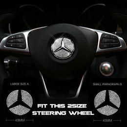 Volante centrale online-45mm o 49mm auto centro volante logo diamante emblema adesivo decalcomanie per mercedes benz