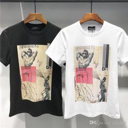 19ss DQ Estate Nuovo arrivo Abbigliamento di alta qualità per uomo T-shirt da uomo Medusa Stampa Tees Taglia M-3XL da
