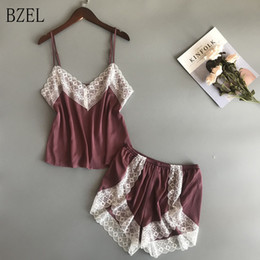 cff27235d 2019 pijama de ropa interior BZEL Nuevos Conjuntos de Pijamas Pijamas de  Encaje Sexy Para Mujeres