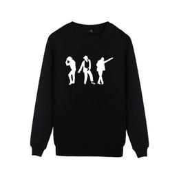 Camisolas de michael jackson moletom com capuz on-line-Michael Jackson Moonwalk Silhueta Hoodies Moda Casual Homens Mulheres Roupa sem capa capuz Moonwalk Poppin