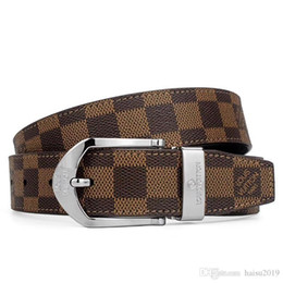 cinturon hombre blanco 44 Rebajas 2019 hombres de cinturón de diseño caliente marca de alta calidad pantalones de cinturón de cuero genuino Hebilla de aleación de oro plata hebilla sin caja de ayuda-4t