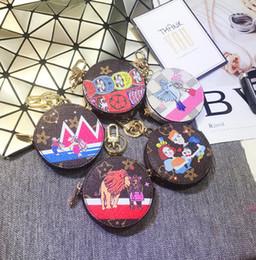 Vecchi portachiavi online-Cartone animato di lusso moda coreana stampa portachiavi vecchio fiore animale moneta portachiavi borsa appesa portachiavi ciondolo borsa regalo creativo