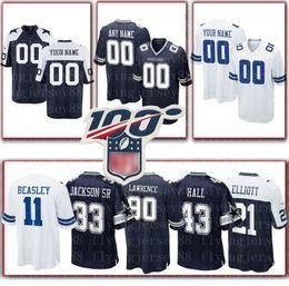 Jersey troy online-Encargo cualquier nombre / número Dallas Cowboys Jersey 8 Troy Aikma 12 Roger Staubach 17 77 Hurns Smith Martin Bailey Awuzie fútbol jerseys