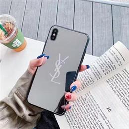 2019 casos do silicone do ipad dos desenhos animados Varejo para novo iPhone 11 pro max 7 8 mais PU couro caso capa Voltar espelho para iphone XR XS transporte da gota grifes de luxo