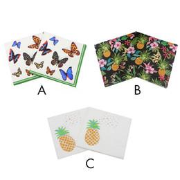 Servilletas de papel de decoración de la característica del tejido impreso de la mariposa de la belleza para el partido del acontecimiento los 33cm * 33cm 20pcs / pack / lot Servilleta de tabla desde fabricantes