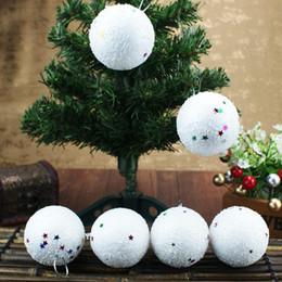 espuma bola de natal enfeite Desconto 25 # Snowball Foam Balls Christmas Party 6PCS Ornamento da árvore de Natal Hanging Decor Natal gota pendente Ornamentos