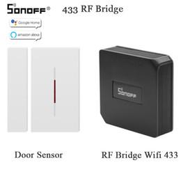 Canada SONOFF RF Pont 433MHZ Wifi Détecteur de mouvement de fenêtre de porte DW1 Détecteur sans fil Smart Home Automation Système de sécurité Alexa Google cheap bridge system Offre