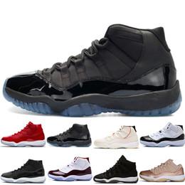 Zapatos cerrados para hombres online-High Concord 45 11 Zapatillas de baloncesto para hombre 11s Tinte de platino GORRA Y GOLD BRED LEGEND BLUE CLOSING CEREMONY HEIRESS hombre mujer deportes