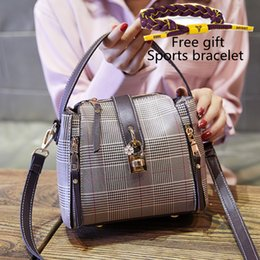 ribbon embroidery hand bags Promo Codes - 2019 The New Korean version Designer Ms Portable handbag Plaid hand Simple Wild trend Shoulder Messenger Bag