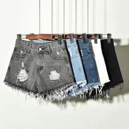 2019 Neue Frauen Sexy Hohe Taille Quaste Zerrissene Jeans Sommer Große Größe Denim Shorts C19041201 von Fabrikanten