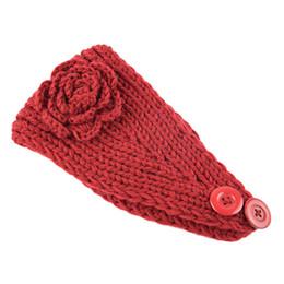 Crochet rosso online-Maglia calda lana Crochet Womens Copricapo Wrap Wide Band Sport Yoga Bagno Rosso Accessori per capelli