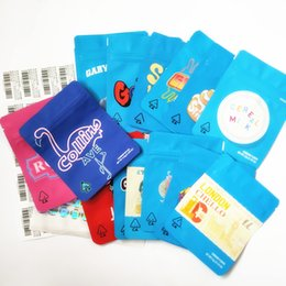 botellero para jugo e Rebajas GALLETAS California SF octavo 3.5g Mylar a prueba de niños bolsas de embalaje 420 gelatti Cereal Gary Payton galletas bolsa con la etiqueta engomada del holograma