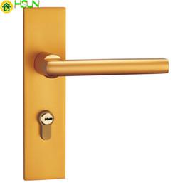 Canada Espace en aluminium Golden Mute Lock Serrure intérieure ont serrure de porte de la porte de la porte de la chambre double Offre