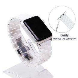Fohuas Керамический ремешок для часов для Apple Watch 38мм 42мм Смарт ремешок для часов Ссылка ремешок браслет Керамические звенья ремешок для часов для Iwatch T190620 от