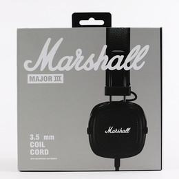 2019 водонепроницаемые наушники bluetooth Marshall Major III 3.0 Bluetooth-наушники DJ Наушники с глубоким басом Изолирующая гарнитура Наушники Major III 3.0 Bluetooth для беспроводной связи