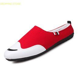 летняя обувь от oxford Скидка Летние Тапочки Мужская Повседневная Обувь Дышащий Холст Обувь Для Ходьбы Мокасины Панк Открытый Квартиры Оксфорды Партия Кроссовки