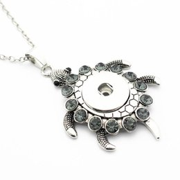 NEW  Crystal Alloy Pendant for Fit Noosa Necklace Snap Chunk Button A342