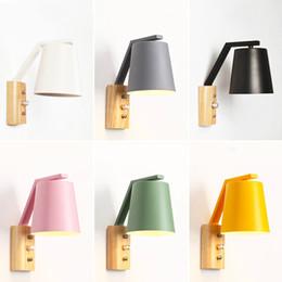 Interruttore a manopola Lampade da parete a LED Colori Applique da parete Soggiorno Decorazioni per pareti Lampade da camera colorate da