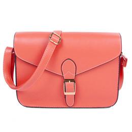 Sobre rojo bolsas de mensajero online-Bolso de las mujeres bolsa de mensajero estilo preppy bolso del sobre de la vendimia del hombro maletín de alta calidad rojo sandía # 187328