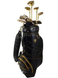 ferrules en bois Promotion ICHIRO HONMA (IHA) Ensemble complet haut de gamme pour club de golf Gold Driver FW # 3 / # 5 UT # 20 Fer 5-9 P A S Putter Clubs 13PCS
