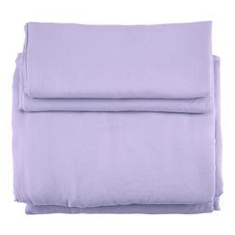 weinrot bettbezug könig Rabatt 3 teile / satz Mikrofaser Licht Lila Einfarbig Bettbezug Kissenbezüge Bettwäsche Set
