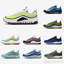 Volt Rush Pink Damen Herren nike air max 97 Laufschuh Summit Laser Fuchsia Tiger Camo Neon Seoul Blauer Nebel Future Forward LX Sports Outdoor