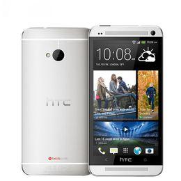 Unlocked Orijinal HTC ONE M7 Cep Telefonu 2 GB 32 GB 4.7 inç Ekran Android 5.0 Dört Çekirdekli Dokunmatik HTC M7 NFC Sensörü Smartphon nereden