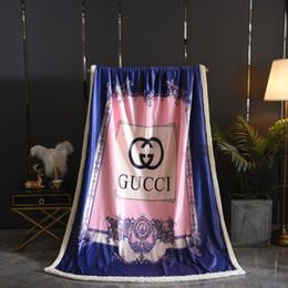 2019 rainha rosa Rosa Roxo Put Together New Blanket modernas de marca da tampa do sofá Blanket Hot Consolador Quilt Engrosse Cobertores Rainha completa rainha rosa barato