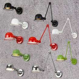 Lâmpada de braço giratório vintage on-line-Nórdico Clássico ajustável industrial moderno Longo braço oscilante preto lâmpada de parede arandela luzes do vintage E27 para o Banheiro quarto foyerClassic Nordi