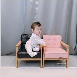 Sofá para crianças Fezes de madeira maciça infantil e pequenos sofás Sala de crianças jardim de infância decoração baby play fotografia adereços de