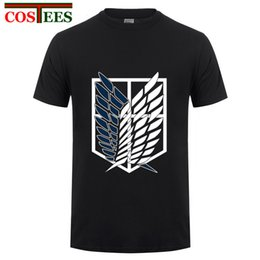 2017 fashion adult New Anime Attack on Titan maglietta donna uomo Costumi Cosplay Nero Navy Scouting Legion felpa Unisex Tee da