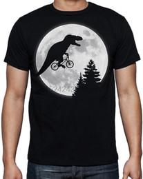 Bmx negro online-T Rex Tyrannosaurus Rex E.T Extra Terrestrial BMX Bike Moon Funny Black Camiseta