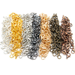 2019 nickel armbänder 100 Teile / los Zink-legierung Karabinerverschlüsse für DIY Schmuck Halsketten Armband, Nickel Frei schiff (12x7mm) rabatt nickel armbänder