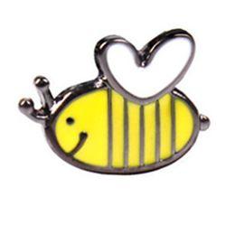 Decorazioni di api di miele online-Cute Happy Bumble Honey Bee Hat Spilla Pins Decorazione smalto per vestiti e borse Distintivo