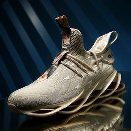 Federblatt läuft online-SENTA New Blade Running Schuhe Mann Korean Cool Spring Schuhe rutschfeste leichte Stoßdämpfer atmungsaktive Sportschuhe Zapatos BALCK