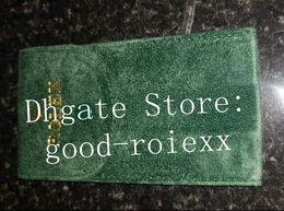 Bolsas de viaje verdes online-Soft lujo verde terciopelo almacenamiento bolsa del recorrido caja de reloj bolsa del bolso del Día Fecha Gmt II Maestro Explorador mar nubes Morador Cellini Prince Presidente