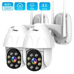 2019 aplicación de cámara wifi al aire libre Vigilancia Seguridad 1080P cámara IP WiFi 2MP Wireless PTZ Domo CCTV IR Onvif de la cámara impermeable al aire libre de la cámara YCC365 App T191018 rebajas aplicación de cámara wifi al aire libre