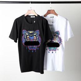 più camicia di tigre di formato Sconti t-shirt estate stampa tiger manica corta blu navy tee Creative grandi taglie forti grandi S-2XL uomo in cotone