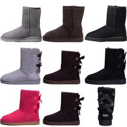 Moda para mujer con descuento online-UGG BOOTS 2020 Diseñador de invierno Australia Clásico botas para la nieve botas de invierno para mujer de descuento tobillo de la manera Plus Botas zapatos de algodón barato