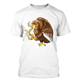 Canada 2019 t-shirt hommes de mode estivale Eagle I Love Mexico Flag T Shirt Tees couleur t-shirt imprimé cheap eagles love Offre