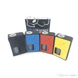 gemacht box mod Rabatt S-Rabbit Squonk Box Mod aus Nylonmaterial mit der federbelasteten 510 Pin Flip Style Batteriefachabdeckung. Hohe Qualität DHL frei