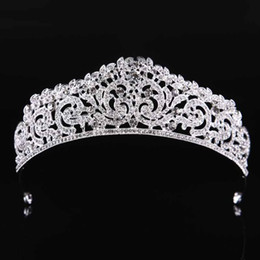 crown royal Promo Codes - Royal Baroque Style Gold Silver Rhinestone Tiaras and Crowns Headbands Princess Women Girl Bridal Bride Noiva Wedding Jewelry