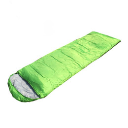 Saco de dormir ultraligero impermeable online-Envío gratis Ultralight Sleeping Bag para acampar Mochilero Senderismo Viajar -3 Season Lightweight Portable Sleeping Bag SB001
