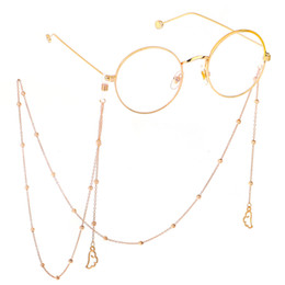 Sonnenbrille seil online-Brillenkette mit Engelsflügel Anhänger Gold / Silber Farbe Metall Sonnenbrillen Brillen Lesebrille Cord Halter Umhängeband Seil