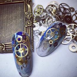 adesivi punk Sconti Nail Art Decorazioni Adesivo Punk Steam Parts Orologi Borchie Ingranaggio 3D Tempo Nail Art Wheel Metallo Manicure Tips Ornamenti GGA1796
