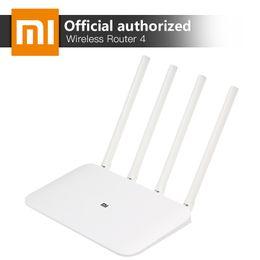 antena mhz Rebajas Xiaomi Mi Wifi Enrutador inalámbrico 4 Banda dual 2.4 / 5 gHz Gigabit Smart Mini Wifi Repetidor 4 Antenas Dual Core 880 mhz App Control T190619